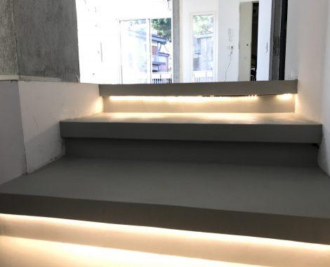 resina da interno per gradini e pavimenti